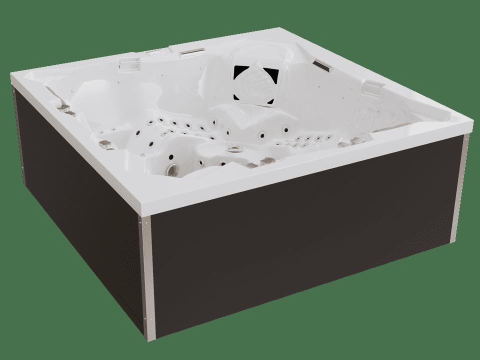 Whirlpool mit weißer Acrylwanne