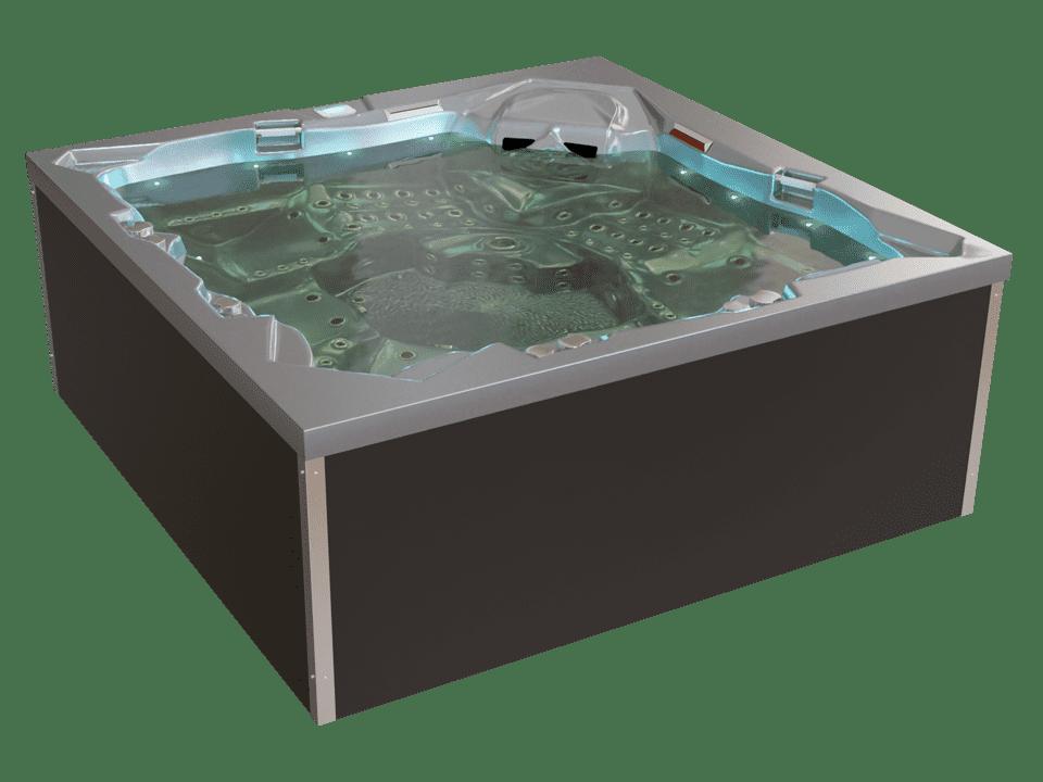 Whirlpool mit Wasser befüllt